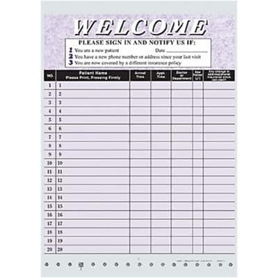 Medical Arts Press® Privacy Sign-In Sheet, HIPAA Compatible, Purple