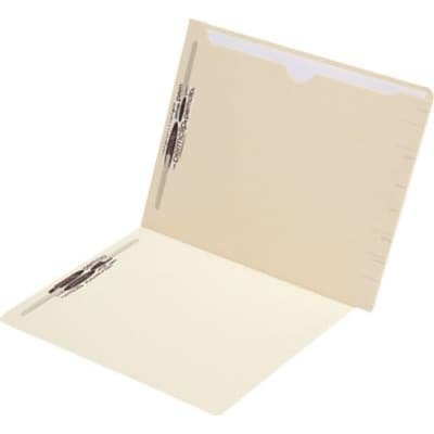 Medical Arts Press® Confidential End-Tab Folders, Full Back Pocket, 1 Pocket, 50/Box