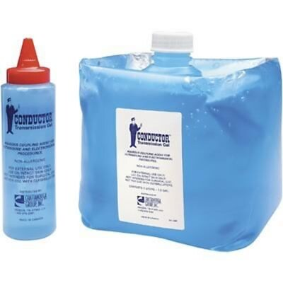 Fabrication Enterprises Chattanooga® Conductor Ultrasound Gel, Blue, 5 liter.