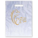Medical Arts Press® Veterinary Non-Personalized 1-Color Supply Bags, 9x13, We Care for Your Pets