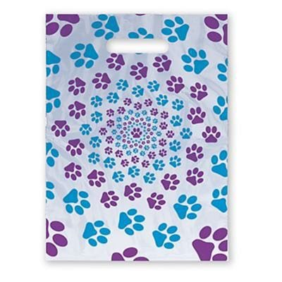 Medical Arts Press® Veterinary Scatter Print Bags, 9x13,  Paw Prints