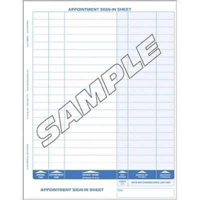 Med-Pass® Confidential Privacy Sign-In Sheets