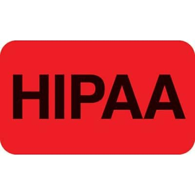 Medical Arts Press® Patient Record Labels, HIPAA, Fluorescent Red, 0.875 x 1.5 inch, 250 Labels