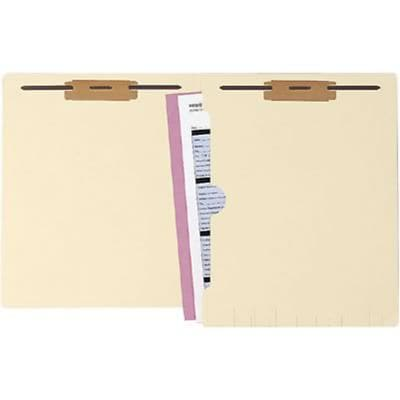 Medical Arts Press® Manila Full-Pocket End-Tab Folders, 3/4 Expansion, 2 Fasteners, Letter Size, 250/Box