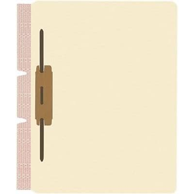 Medical Arts Press® File Folder Dividers, Standard Side-Flap, 2 Fastener on Side