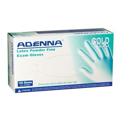 Adenna® Gold Latex Powder-Free Exam Gloves, Large