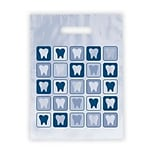 Medical Arts Press® Dental Non-Personalized 1-Color Supply Bags, 7-1/2x9, Tooth Quilt