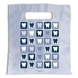 Medical Arts Press® Dental Non-Personalized 1-Color Supply Bags, 9x13, Tooth Quilt