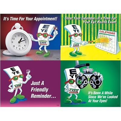 Eye Guy® Assorted Laser Postcards, Time for Appointment