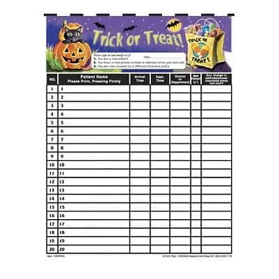 Medical Arts Press® Privacy Sign-In Sheets, Trick or Treat