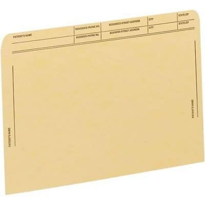 Medical Arts Press® File Pockets with Printed Patient Grid, Tan, 50/Box