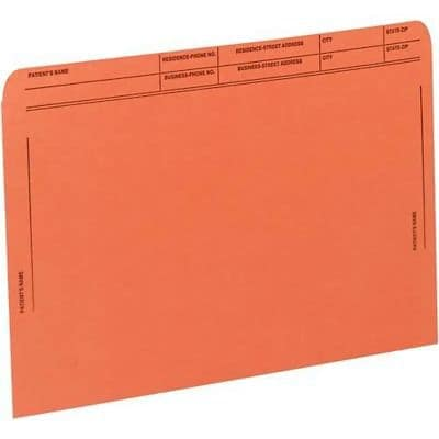 Medical Arts Press® File Pockets with Printed Patient Grid, Dark Orange, 50/Box