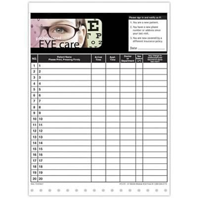 medical arts press designer privacy sign in sheets eye chart