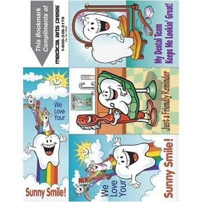 Smile Team™ 3-Up Laser Recall Postcards with Bookmark, Smile Team