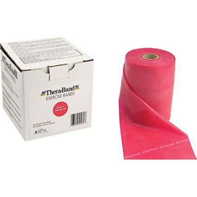 Thera-Band® Exercise Bands, 50 Yard Bulk Roll, Medium, Red