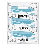 Medical Arts Press® Dental Scatter Print Bags, 7-1/2x10, Brush Floss