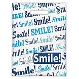 Medical Arts Press® Dental Scatter Print Bags, 7-1/2x10, Blue Smile