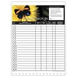 Medical Arts Press 2-parts Privacy Sign-In Sheets Butterfly, HIPPAA Compliant 125/Pack (27319)