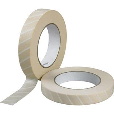 Steam Autoclave Indicator Tape, 1 x 60 yrds, White
