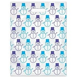Snowman Seasonal Scatter-Print Supply Bags