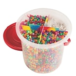 S&S Worldwide Sparkle Pony Bead Bucket Easy Pack, 800/Pack