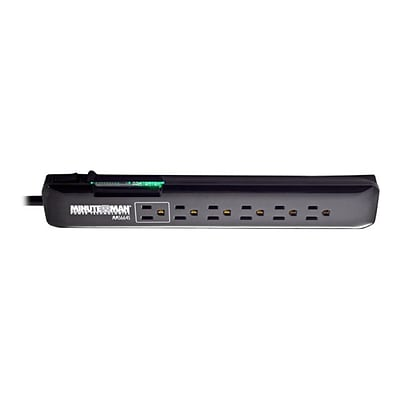 PARA SYSTEMS DBA MINUTEMAN UPS Surge Suppressor; 6-Outlet, 4