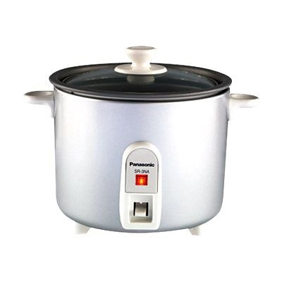 Panasonic-Small Appliances 1.5 Cups Rice Cooker & Steamer Silver