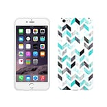 Centon OTM Ziggy Collection Case for iPhone 6 Plus, White Glossy, Aqua