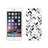 Centon OTM Ziggy Collection Case for iPhone 6 Plus, White Glossy, Gray