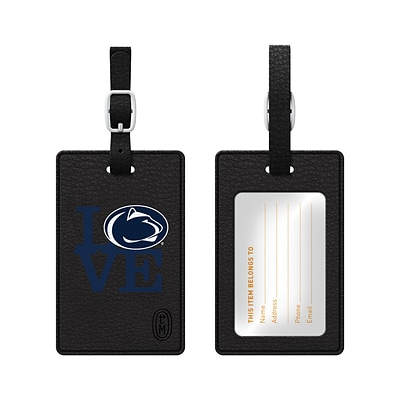 Centon Black Leather Love Bag Tag, Pennsylvania State University