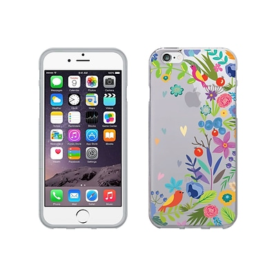 Centon OTM Floral Collection Case for iPhone 6, Clear, Springtime