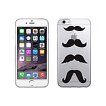 Centon OTM Hipster Collection Case for iPhone 6, Clear, Mustache