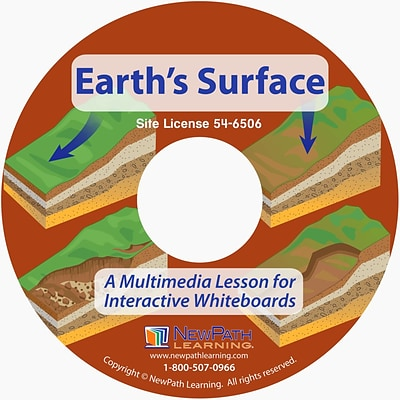 NewPath Learning Earths Surface Multimedia Lesson, Grade 6-10