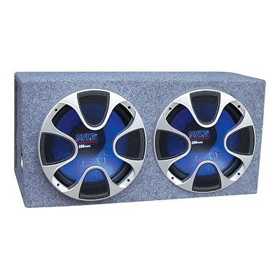 Pyle® PLBS122 1000 W Dual Bass Box Speaker System; Blue/Black