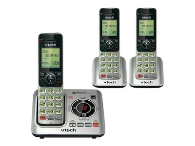 Vtech® CS6629-3 Cordless Answering System; Silver