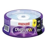 15/Pack 4.7GB 4x DVD Rewritable Media