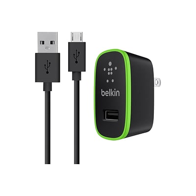 Belkin® Universal Home Charger With Micro USB ChargeSync Cable; Black