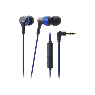 Audio Technica® SonicPro® In-Ear Headphone With In-line Mic & Control; Blue