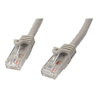 StarTech N6PATCH10GR Cat6 Patch Cable with Snagless RJ45 Connectors; 10ft, Gray