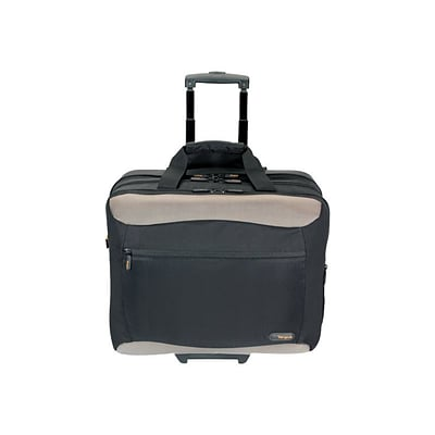 Targus® Black/Silver Nylon Rolling Travel Case For 17 Laptop