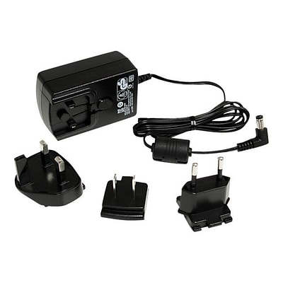 StarTech® 4.5 Universal Power Adapter For KVM Switch; Black