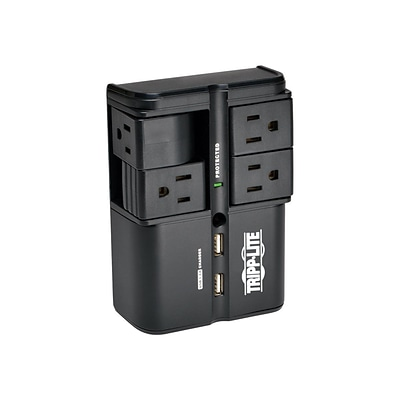 Tripp Lite Protect It 4 Rotatable Outlets Direct Plug In Surge Protector