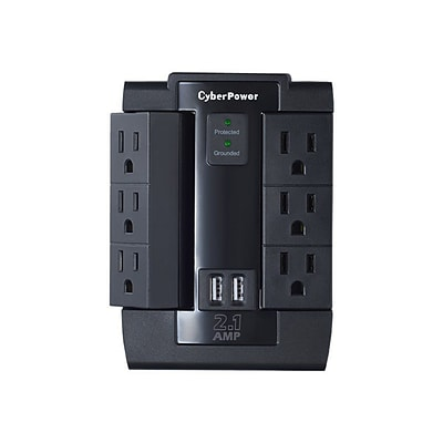 Cyberpower® Professional 6 Outlet Direct Plug Surge Protector