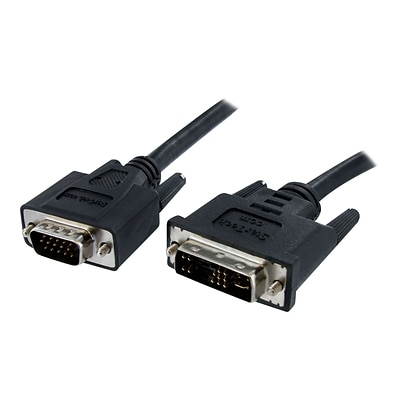 StarTech® 6 High Resolution DVI To VGA Male/Male Display Monitor Cable; Black