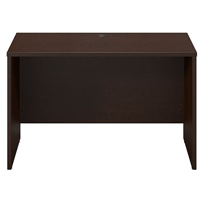 Bush Business Westfield Elite 48W x 24D Desk, Shell, Credenza, Mocha Cherry, Installed