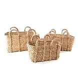 Baum Braided Rush Basket Set Beige