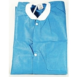 ValuMax Extra-Safe™ Knee Length Lab Jackets & Coats; Small, Ceil-Blue, 10/Pack