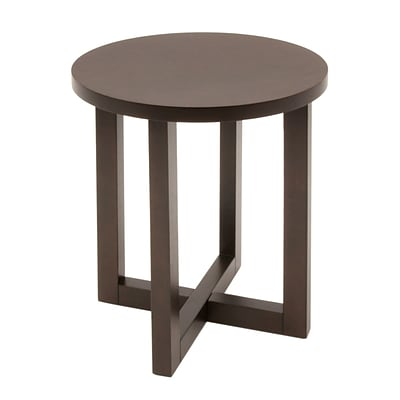 Regency Wood End Table, Mocha Walnut