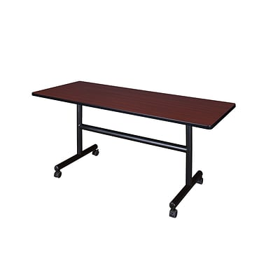 Regency 60-inch Metal & Wood Training Table, Mahogany