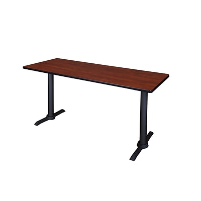 Regency 66-inch Metal & Wood Cain Computer Table, Cherry